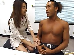 Asian secretary Runa Sawaguchi gets fucked in put emphasize office. HD